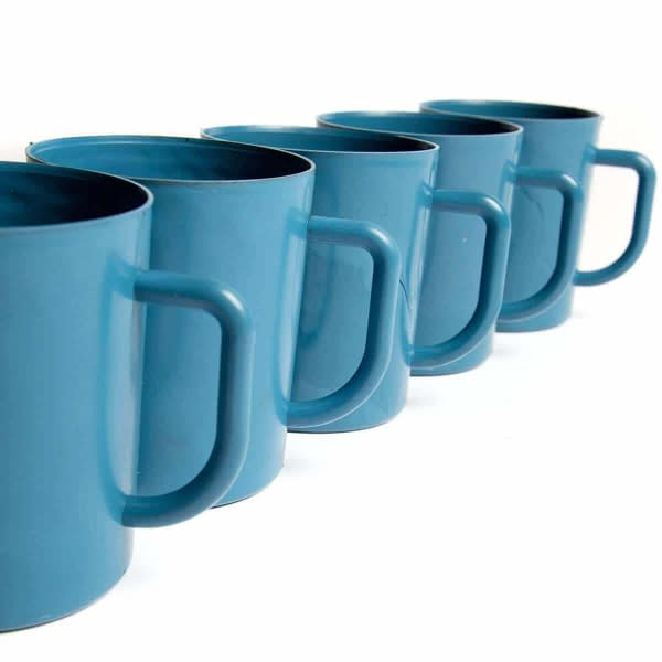 Metal/X-Ray Detectable Blue Plastic Mugs Food Industry (Pack of 5) | TG Engineering Plastics Limited