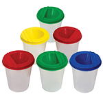 Non Spill Paint Pots For Kids (Assorted Coloured Lids) Art & Craft Activities | TG Engineering Plastics Limited