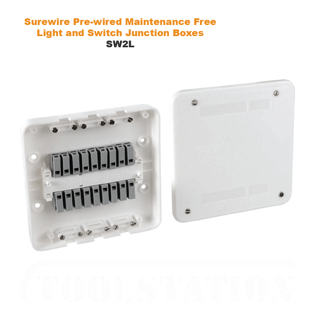 Surewire Pre-wired Maintenance Free Light and Switch Junction Boxes SW4L & SW2L | TG Engineering Plastics Limited