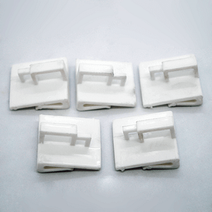 x20 pack of white plastic ceiling clips   TG Engineering Plastics Limited