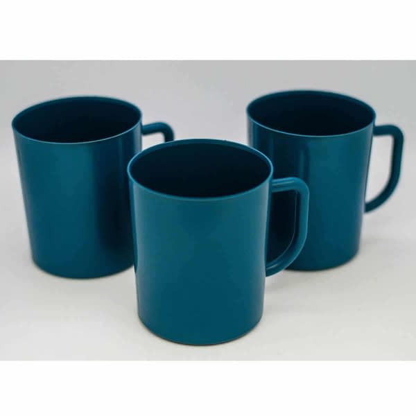 Metal/X-Ray Detectable Blue Plastic Mugs Food Industry (Pack of 5) | TG Engineering Plastics Limited