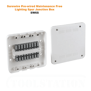 Surewire Pre-wired Maintenance Free Lighting Spur Junction Box SW6S | TG Engineering Plastics Limited