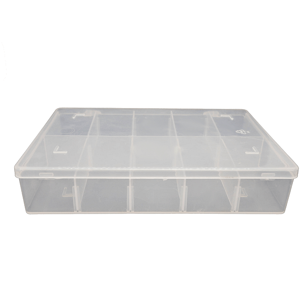 Small Divider Box (1 & 10 Pack) 165mm L x 100mm W x 30mm H | TG Engineering Plastics Limited | Storage Boxes