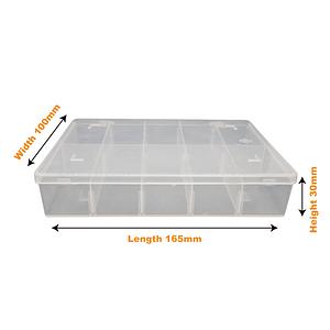 Small Divider Box (1 & 10 Pack) 165mm L x 100mm W x 30mmH | TG Engineering Plastics Limited | Storage Boxes