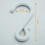 Suspended Crimped Plastic S Hooks Clip Strips Merchandising Hooks Retail | TG Engineering Plastics Limited