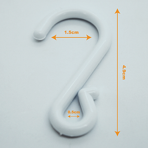 Suspended Crimped Plastic S Hooks Clip Strips Merchandising Hooks Retail   TG Engineering Plastics Limited