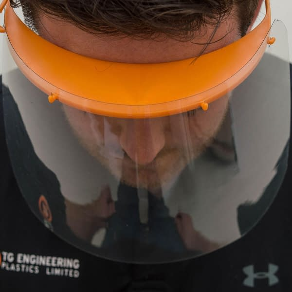 Protective PPE Full Face Shield | TG Engineering Plastics Limited | PPE | Protective Equipment